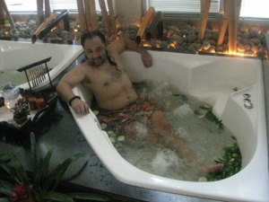 Ron in the Pandan Leaves and Lime (hot) Jacuzzi