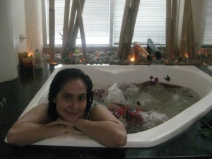 Me in the Rose Petal Jacuzzi (cold)