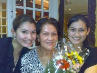 L-R - Rochell, Mrs. Barrameda and Ruby Rose
