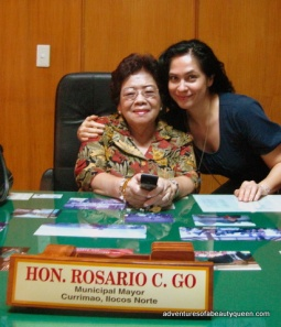 The Blogging Beauty Queen with Mayor Rosario Go