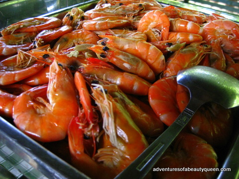 Steamed Shrimp harvested from the waters of Ilocos Norte. They were succulent and crisp!