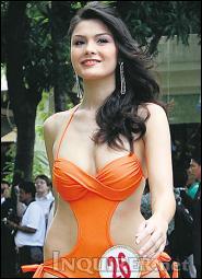 Jacqueline Schubert competes in Mutya ng Pilipinas 2009