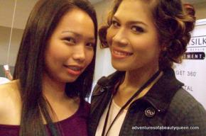 Chin with Diandra in the Make-Up Room