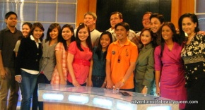 RPN Newswatch Team with CNN Hero of the Year Efren Penaflorida (in the middle wearing an orange shirt)