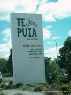 Te Puia's Welcome Sign!