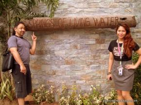 My hubby Ron with my daughter Diandra Zach at the Springs of Living Water Retreat and Seminar Center Antipolo