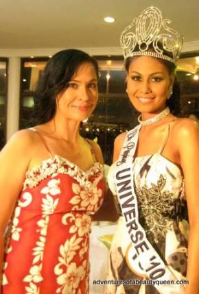 blogging beauty queen (left) with Bb. Pilipinas Universe 2010 Ma. Venus Raj