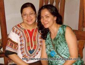 ata Inocencio and the blogging beauty queen in San Nicolas, Ilocos Norte