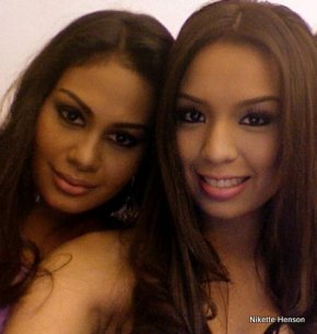 Venus Raj (left) and Nikette Henson's friendship has remained strong throught the controversy.
