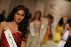Danielle Catano representing the Philippines in Ms World 2008 in South Africa
