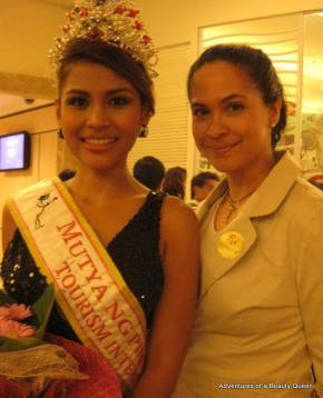 Mutya ng Pilipinas Tourism International 2010 Barbie Salvador with Joyce Burton Titular, author of Adventures of a Beauty Queen