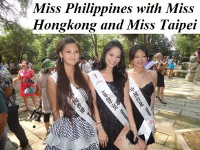 Miss Philippines and Miss Hongkong! Received this second photo from Ovette, thanks!!!