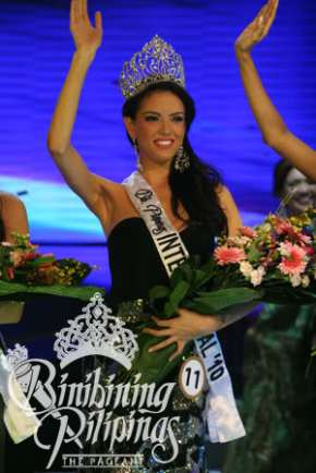Krissa Arrieta Kleiner on the night she was crowned Bb. Pilipinas International 2010!