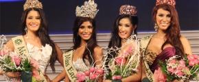 Miss Earth 2010 Court of Winners, Ecuador (Air), India (Nicole Faria, Main Winner), Thailand (Water) and Puerto Rico (Fire)