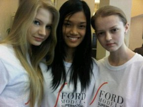 Super Model of the World 2011 Winners  L-R -  1st Runner-up from Lithuania, DANICA FLORES MAGPANTAY from the Philippines (grand winner) and 2nd runner-up from Poland