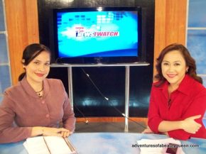Me with my boss and RPN News Watch co-anchor Marigold Haber Dunca