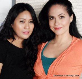 Professional Make-up Artist ibay Litonjua (left) with blogging beauty queen Joyce Burton Titular
