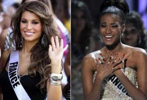 Miss France 2011 Laury Thilleman VS Miss Universe 2011 Angola's Leila Lopes!