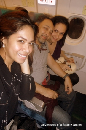 Up in the air between Manila and Thailand!