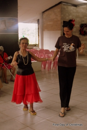 Ballroom dancing with Lola Nena a resident of Boystown!
