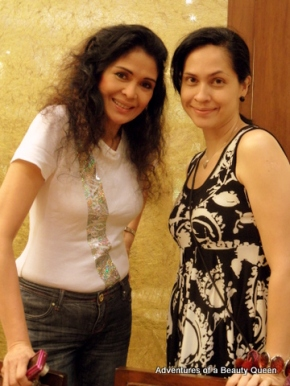 Evangeline Pascual (left) with blog author Joyce Burton Titular