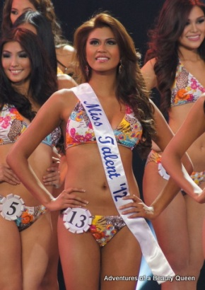 Katrina Jayne Dimaranan was THE winner of Miss Talent in the Bb. Pilipinas 2012 - her talent is: the ability to sing like Alicia Keys, SERIOUSLY!