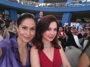 With Miss Cory Quirino on the screening panel at the MOA leg of Miss World Philippines 2012. Check out the crowd behind us!