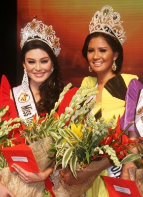 The Top 2 Winners: Meryl Angeline King (left) is Miss World Tourism Philippines 2012 while Joy Marie Gangan (right) is Best Model of the World Philippines 2012