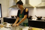 Making 'gata' for my Green Curry Dish