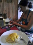 Diandra made this delightful Sticky Rice with Mango dessert!