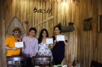 Tom gave us special certificates from Basil Healthy Thai Cookery School!