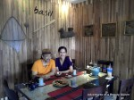 Enjoying our food at Basil Healthy Thai Cookery's Dining Area