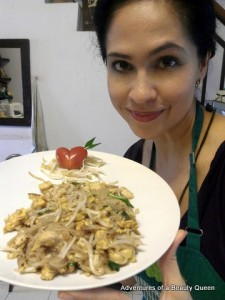 Showing off my Pad Thai which tasted AWESOME!