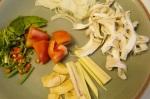 Ingredients of Chicken in Coconut Milk Soup