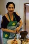 Making my favorite Som Tam Papaya Salad