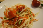 The outcome of my Som Tam Salad. Beautiful!