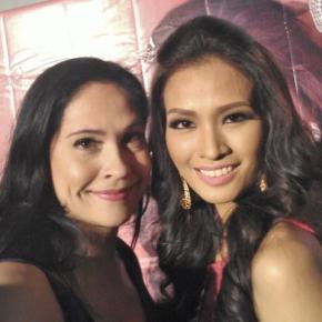 ABQ Blog Author Joyce Burton Titular with Janine Tugonon Miss Philippines Universe 2012!