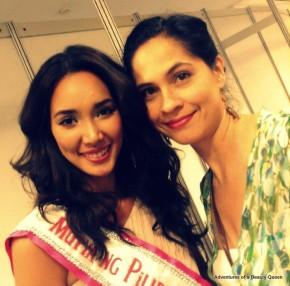 Bea Santiago with the blogging beauty queen...