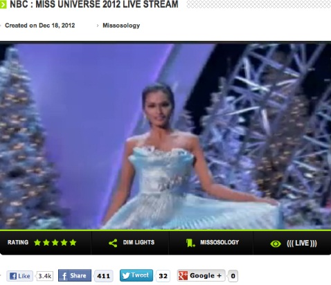 Janine Tugonon in Long Gown Competition at Miss Universe 2012 Holiday Edition!