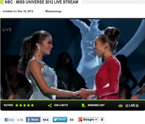 Philippines vs USA - moment before Olivia Culpo is announced the WINNAH!
