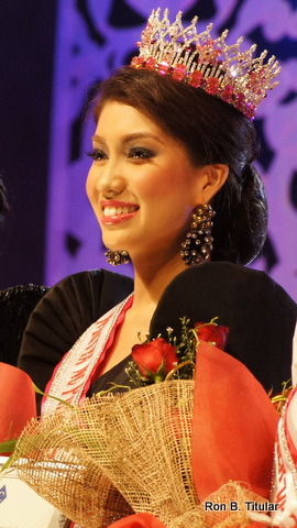 Rizzini Alexis Gomez on the night she won Mutya ng Pilipinas Tourism 2012