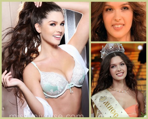Can you see the difference in Elizabeta Golovanova? The photos on the right were taken when she won Miss Russia in March 2012. The big photo was taken this December. WOOOOOW!