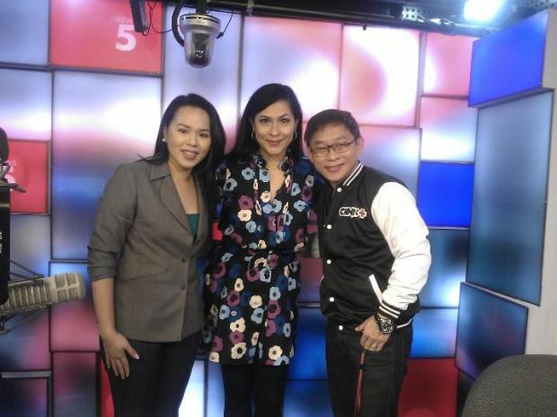 Me (in the middle) with the hosts of Chink Positive - Chinkee Tan (right) and Christina Lazo (left)