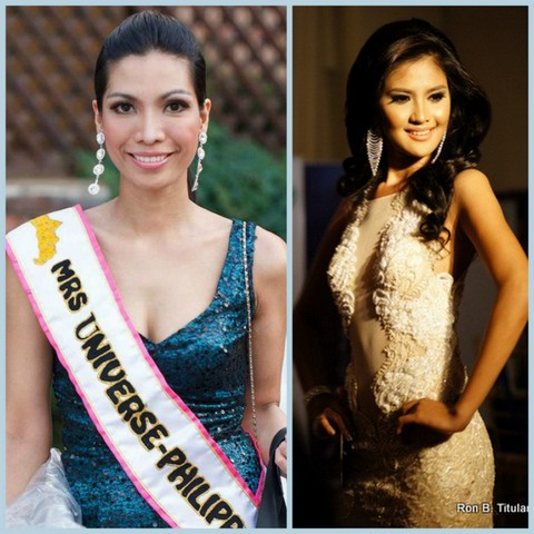 Joy Castillo Pasidis (left) happens to be the mentor of Joy Marie Gangan (left). Both won top model honors in their respective pageants. Both share the same first name!