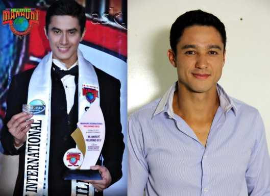 Manhunt International 2012 winner June Macasaet (left) and Mr. World 2012 1st Runner-up Andrew Wolff