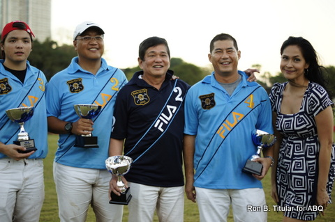Congratulations to Butch Albert's team (he's in dark blue) for winning the first Polo Match!