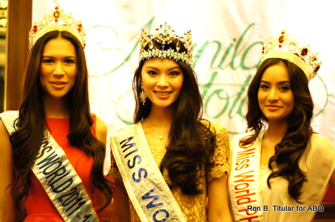 Three different types of beauty - I love them all! Gwendoline Ruais (left) is French Pinay, Wenxia Yu (middle) is Chinese and Queenierich Rehman (left) is Middle Eastern Filipina