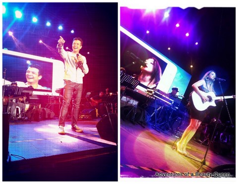 Jericho Rosales (left) and Julianne Tarroja performing at the Hot Air Baloon Fest in Clark Airbase. Took these with my HTC 8x!