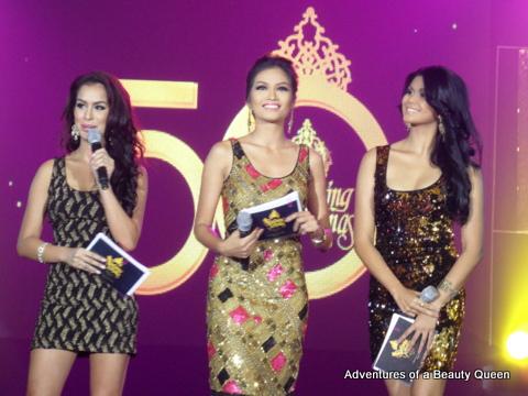 L-R Nicole Schmitz (Bb. Pilipinas International 2012), Janine Tugonon (Miss Universe 2012 !st Runner-up) and Katrina Dimaranan (Bb. Pilipinas Tourism 2012)