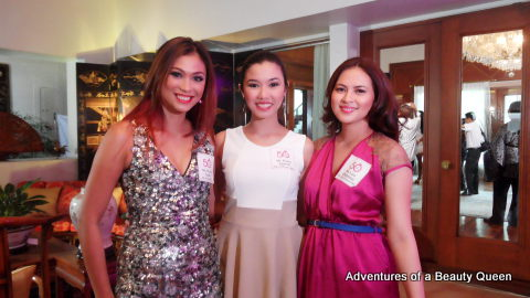 Mafae Yunon (left) with Karen Agustin and Lara Quigaman (right)